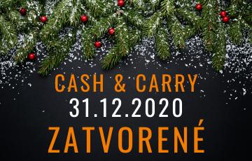 31.12.2020 Cash & Carry ZATVORENÉ