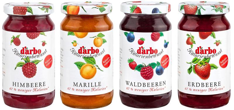 Nízkokalorické ovocné DARBO džemy