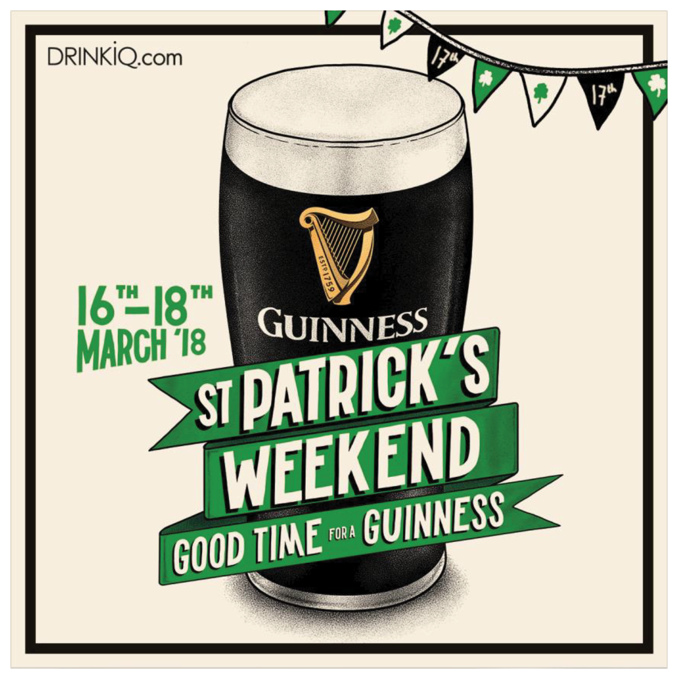 ST. PATRICK´S DAY pivo GUINNESS