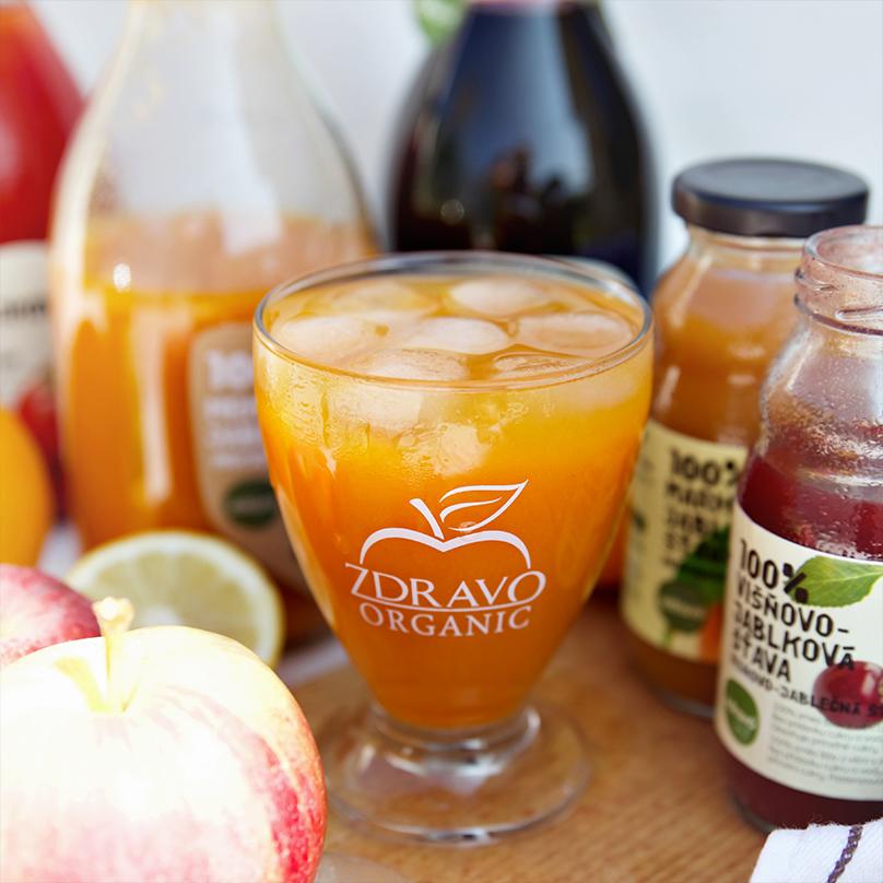 100% ovocné šťavy ZDRAVO