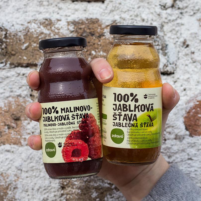 100% ovocné a zeleninové šťavy ZDRAVO
