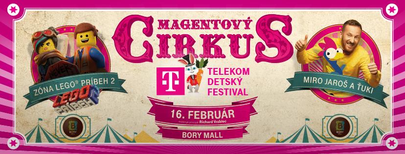 Magentový cirkus Telekom Detský Festival